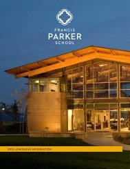 2013 admissions information - Francis Parker School
