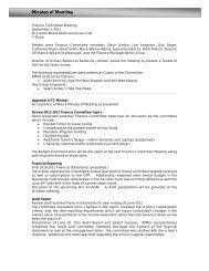 Minutes of Meeting - Singapore American School