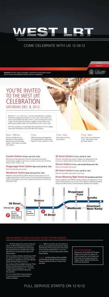 CELEBRATION - Calgary Transit