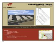 STORAGE HANGARS FOR SALE - Phoenix-Mesa Gateway Airport
