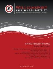 SPRING NEWSLETTER 2013 INSIDE THIS ISSUE - Wasd.org