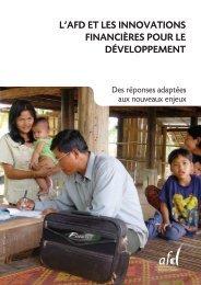 L'innovation financière pour le développement - Agence Française ...
