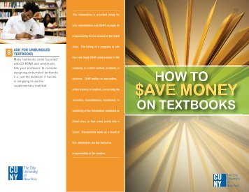 How to Save on Textbooks - CUNY