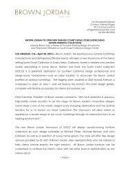 April 30, 2013 - Brown Jordan To Open Flagship Showroom in ...