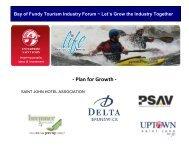 Tourism Industry Forum final report - Enterprise Saint John