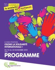 PROGRAMME - La Semaine de la solidarité internationale