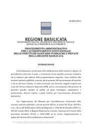 Procedimento Amministrativo Accreditamento Istituzionale, allegato ...