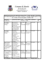 elenco incarichi secondo semestre 2009 - Comune di Alassio