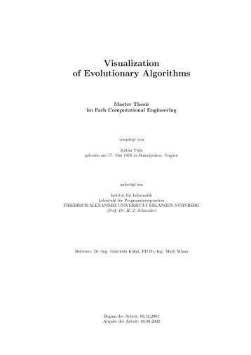 Visualization of Evolutionary Algorithms - CiteSeerX
