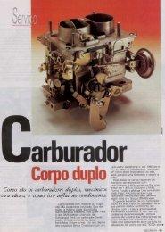 Carburadores de Corpo Duplo - Miura Clube Gaúcho & Antigos