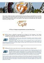 FTT-Ten, 10 Fragen an Ingo Reichstein und sein Show-Team