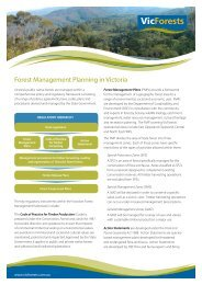 Forest Management Planning in Victoria - VicForests