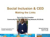 Social Inclusion & CED - The Canadian CED Network