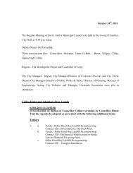 Council Minutes Monday, October 24, 2011 - City Of St. John's