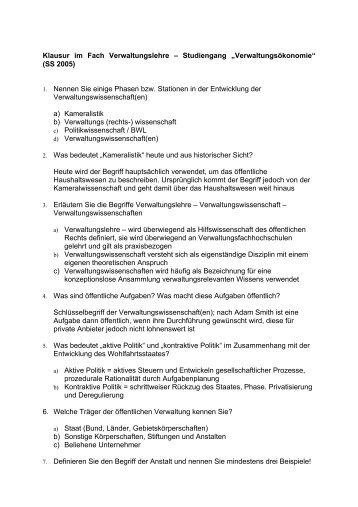 wiso.ferit.info Verpackungstechnik und Handelslogistik Klausur vom ...
