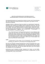 Extrakorporale Stoßwellenlithotripsie - St. Jude Medical