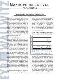 Die Folgen der europäischen Schuldenkrise - Eyb & Wallwitz