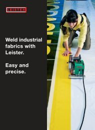 Weld industrial fabrics with Leister. Easy and precise. - Inter-Supply AS
