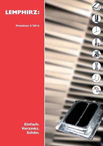 Preisliste 2014 (alle Preise zzgl. der gesetzlichen MwSt.) - LempHirz