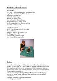 Konzeption - Kindertageseinrichtungen der Evangelischen Kirche