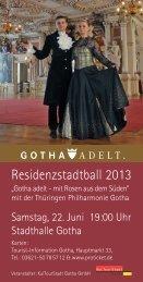 Flyer Residenzstadtball 2013 - Hotel am Schlosspark