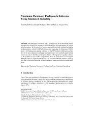 Maximum Parsimony Phylogenetic Inference Using Simulated ...