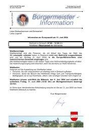 Liebe Jugend! Information zur Europawahl am 13. Juni 2004 ...