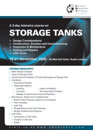 STORAGE TANKS - CMT Conferences