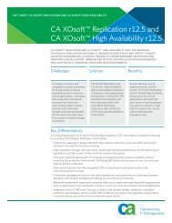 CA XOsoft™ Replication r12.5 and CA XOsoft ... - GovConnection