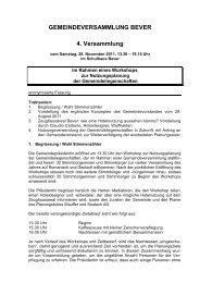 Gemeindeversammlung vom 26. November 2011 (Workshop) - Bever