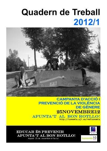 Quadern de Treball 2012/1 - Fundación Isonomia - Universitat Jaume I