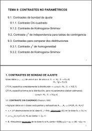 TEMA 9: CONTRASTES NO PARAMÉTRICOS 9.1. Contrastes de ...