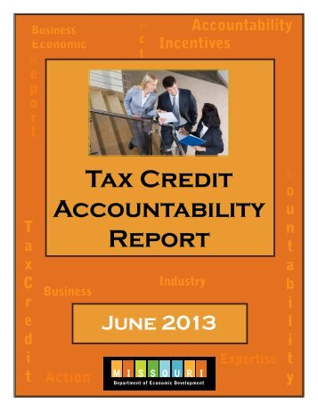 Tax Credit Accountability Report - Missouri Department of Economic ...