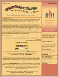 apprenticesearch.com's Newsletter - Winter 2009/2010