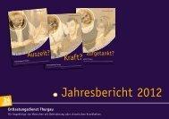 Jahresbericht 2012 - Entlastungsdienst Thurgau