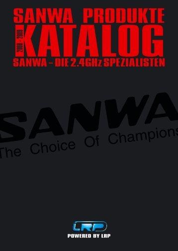 Der neue Sanwa Katalog zum Download bei LRP - rc-car-setup.com