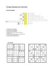 Vorlagen Rätselparcours Oberstufe 1. 2. 3. 4. 5. 6. 7. 8 ... - Bez Wohlen