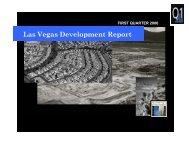 Development Report – 1st Quarter 2006 - City of Las Vegas