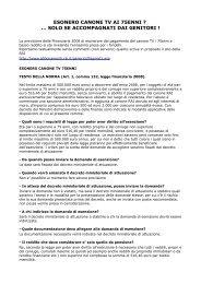 ESONERO CANONE TV AI 75ENNI ? ... SOLO SE ... - CUB Piemonte