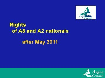 A8 and A2 Nationals' Rights from May 2011 - Angus Council