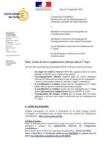 circulaire HSE 2011 2 - Lettre d'informations