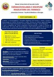 Master in Farmacovigilanza e Discipline Regolatorie del Farmaco - SIF