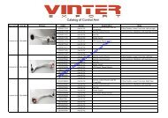 Catalog of Control Arms - Vinter Quality Parts