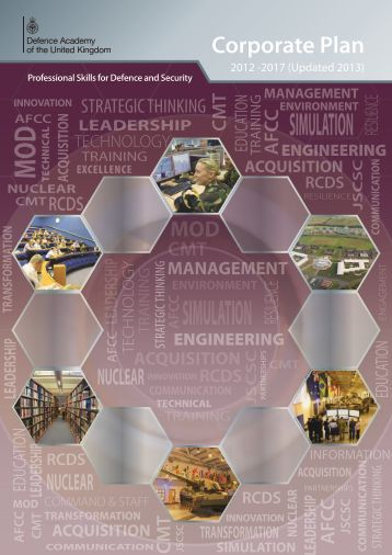 Defence Academy Corporate Plan 2012-2017