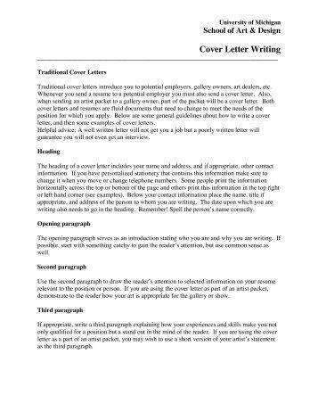 Sample Cover Letter For Art Gallery Internship. Cover Letter Art ...
