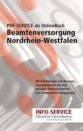 Beamtenversorgung Nordrhein-Westfalen - Landesbeamte