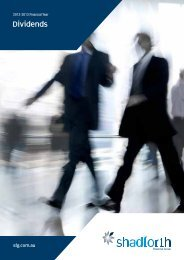 Download the Dividends 2012-2013 edition - Shadforth Financial ...