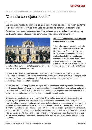 """""""Cuando sonrojarse duele"""" - Noticias - Universia"""