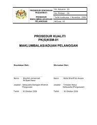 prosedur kualiti pk(s)ksm-01 maklumbalas/aduan pelanggan