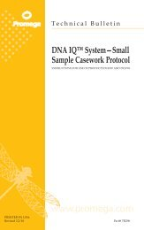 DNA IQ System-Small Sample Casework Protocol Technical Bulletin ...